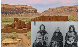 Chaco Canyon Pueblo Bonito Ruin.