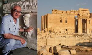 Syrian archaeologist Khaled al-Asaad. (Fair Use) Palmyra, Temple of Bel. (Arian Zwegers/CC BY 2.0)