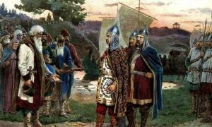 Calling of the Varangians, part of early Kievan Rus' history                Source: Алексей Кившенко / Public domain