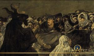 Witches' Sabbath, 1819-1823 by  Francisco Goya