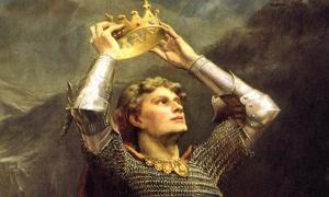 King Arthur. Detail. Charles Ernest Butler, 1903.