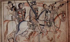 King Offa of Mercia in procession.