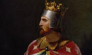 King Richard I portrait detail