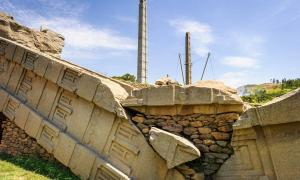 Ruins and obelisks at Axum, former capital of the Kingdom of Aksum