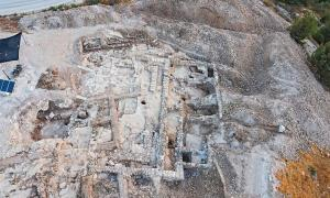 Aerial image of the Kingdom of Judah excavation, a 2,700-year-old administrative complex in Jerusalem.        Source: Yaniv Berman / Israel Antiquities Authority