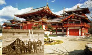 Nen-ho Makotokyo, head temple Kongoji Haiden, constructed by Kongo Gumi