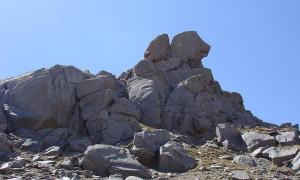 The summit of Kuh-e Alvand, northwestern Iran.