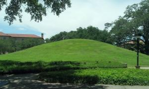 LSU campus Native American Mound