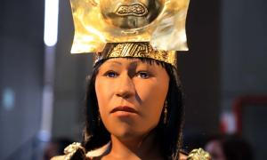 The new 3D printed reconstruction of the face of the Lady of Cao