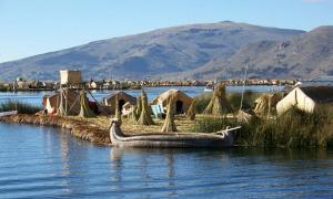 Lake Titicaca and Floating Island in Peru