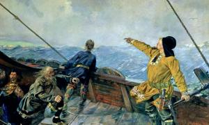'Leif Eriksson Discovers America' by Christian Krohg (1893).