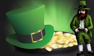 A stereotypical depiction of a leprechaun