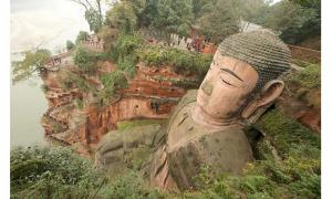 Leshan Giant Buddha is the world's largest stone-carved Buddha
