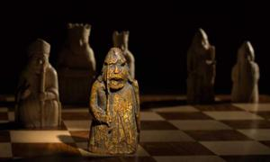 The newly discovered medieval chess piece, one of the Lewis Chessmen, had been missing for almost 200 years. Source: Courtesy of Sotheby's .