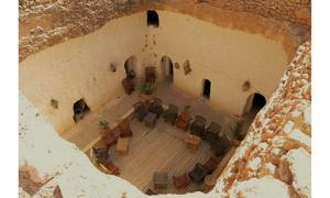 A photo of a troglodyte cave house in Gharyan, Libya.