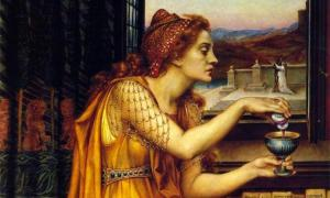 Detail of 'The Love Potion' (1903) by Evelyn de Morgan. Unlike the creation of this woman, Locusta of Gaul's potions were made in hatred. Source: Public Domain