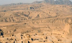 The unique landscape of the Loess Plateau in Shanxi Province.
