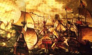 The Spanish Armada, 1577
