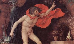 Detail of 'Der Parnaß' (1497) by Andrea Mantegna.