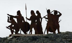 Viking or Norse settlers image at L'Anse aux Meadows.