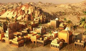 3D reconstruction of an ancient Mesopotamian city.