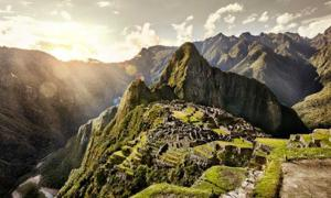 View of the ancient Inca City, Machu Picchu, Peru. Source: alekosa /Adobe Stock