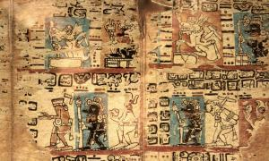 Madrid Codex. Maya Codex also known as Tro-Cortesianus. Origin unknown. Epoch: Late Postclassic.