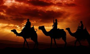 The magi or three kings who followed the Star of Bethlehem to find the new-born Jesus. Source: Pawel Horazy / Adobe Stock