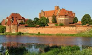 Picture taken in Malbork after Wikimania 2010 conference. Panorama of Malbork Castle.