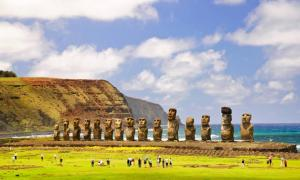 Maoi statues on Easter Island