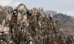 Marcahuasi rock formations in Peru.