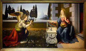 The Annunciation by Leonardo da Vinci