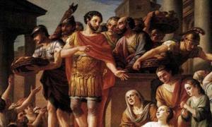 Marcus Aurelius Distributing Bread to the People by Joseph-Marie Vien