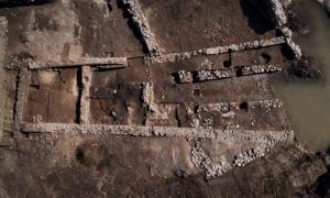 The excavation site at Mariana, Corsica.