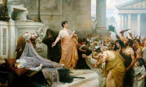 Mark Antony's oration at Caesar's funeral