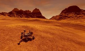 Curiosity Rover on Mars looks for water