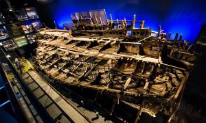 The conserved Mary Rose ship on show.        Source: Mary Rose Trust / University of Warwick