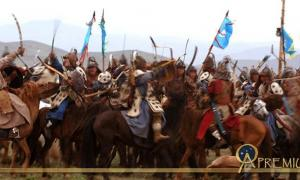 Reenactment of Mongol battle