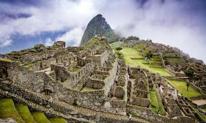 Sacred Inca citadel, Machu Picchu, Peru, on the boarder of the Andes and the Amazon.