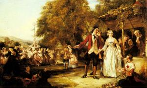 'A May Day celebration' by William Powell Frith.