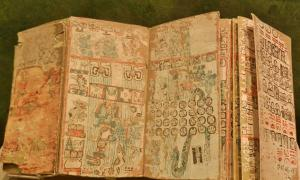 "One of the first cultures to have books were the Maya codices written on doubled-over pages and covered by a layer of ""stucco""."