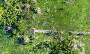 Built at the turn of the 7th century, the white plaster-coated Maya road began in Cobá ended at Yaxuná. Source: Traci Ardren and Dominique Meyer / University of Miami.