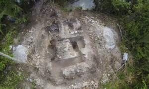 Aerial footage of the newly discovered Maya water temple.
