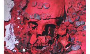 The Mayan Red Queen Skull. Image: INAH