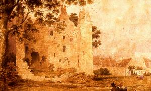 Partick Castle, a watercolor painting by John A. Gilfillan (1793-1864).