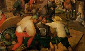 Detail of 'Brawl between soldiers and peasants' (1565-1570) by the Circle of Marten van Cleve. A new 'murder map' shows that Medieval London streets were the backdrop to many murders.