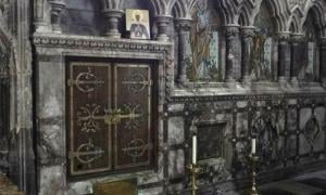 The shrine of Medieval Saint Eanswythe in the Folkestone church, England. Source: A Clerk of Oxford