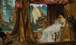 'The Meeting of Antony and Cleopatra', by Lawrence Alma-Tadema.
