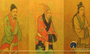 7th century Tang dynasty painting of envoys from the Three Kingdoms of Korea: Baekje, Goguryeo, and Silla (Public Domain)