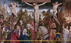 The Crucifixion by André d'Ypres / Dreux Budé Master, (before 1440) Getty Centre (Public Domain)